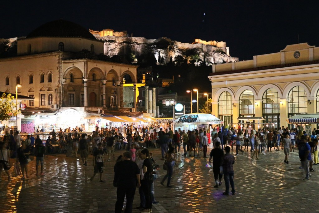 Monastiraki Square by night