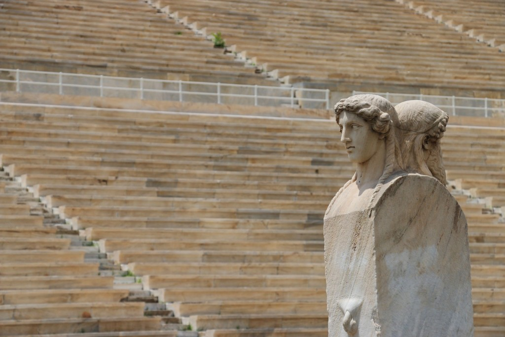 Olympic Stadium Stairs and Statue